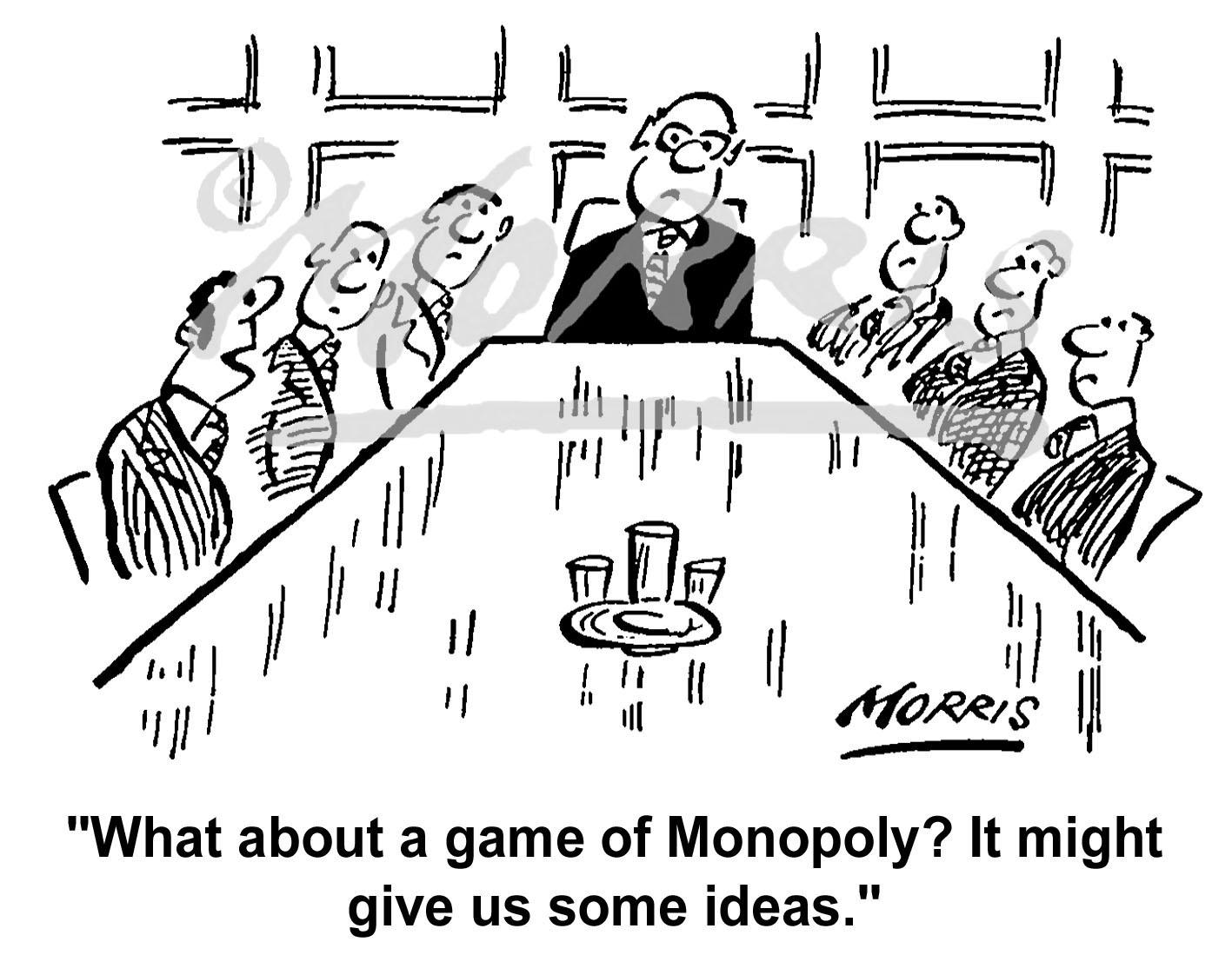 Boardroom meeting business cartoon Ref: 1391bw