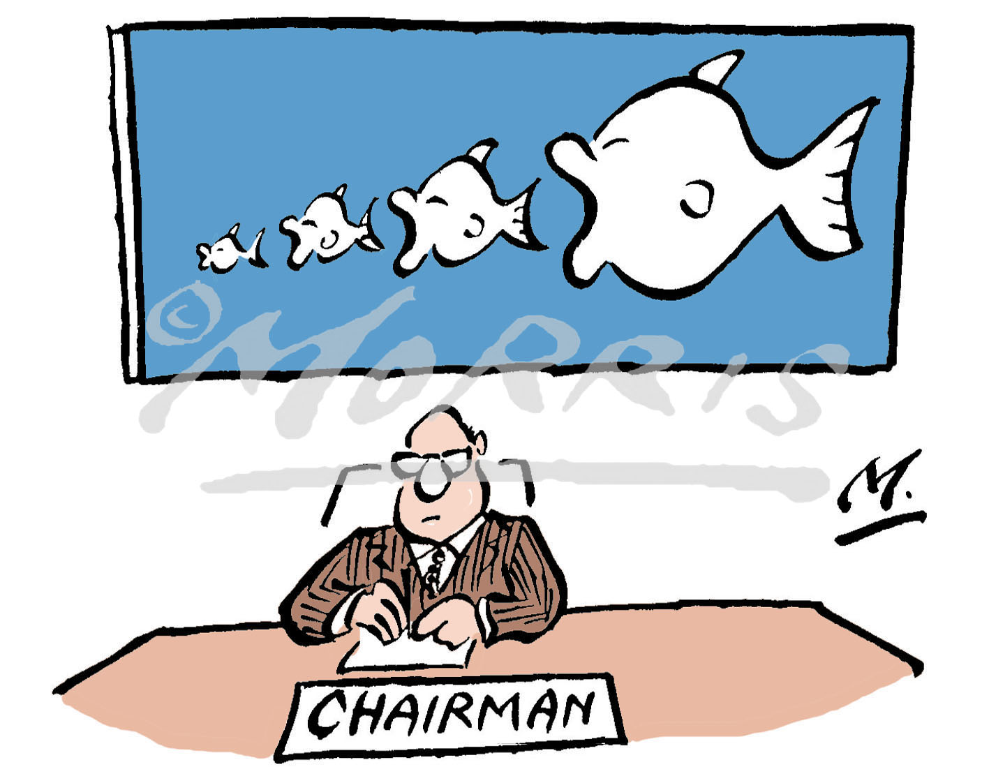 Chairman takeovers cartoon – Ref: 1474col