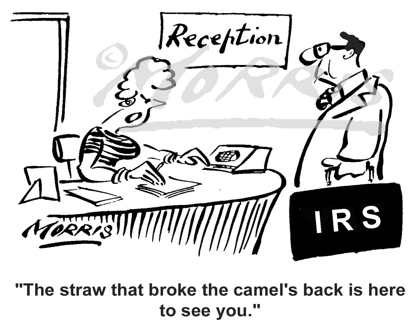 IRS tax comic cartoon – Ref: 1530bwus