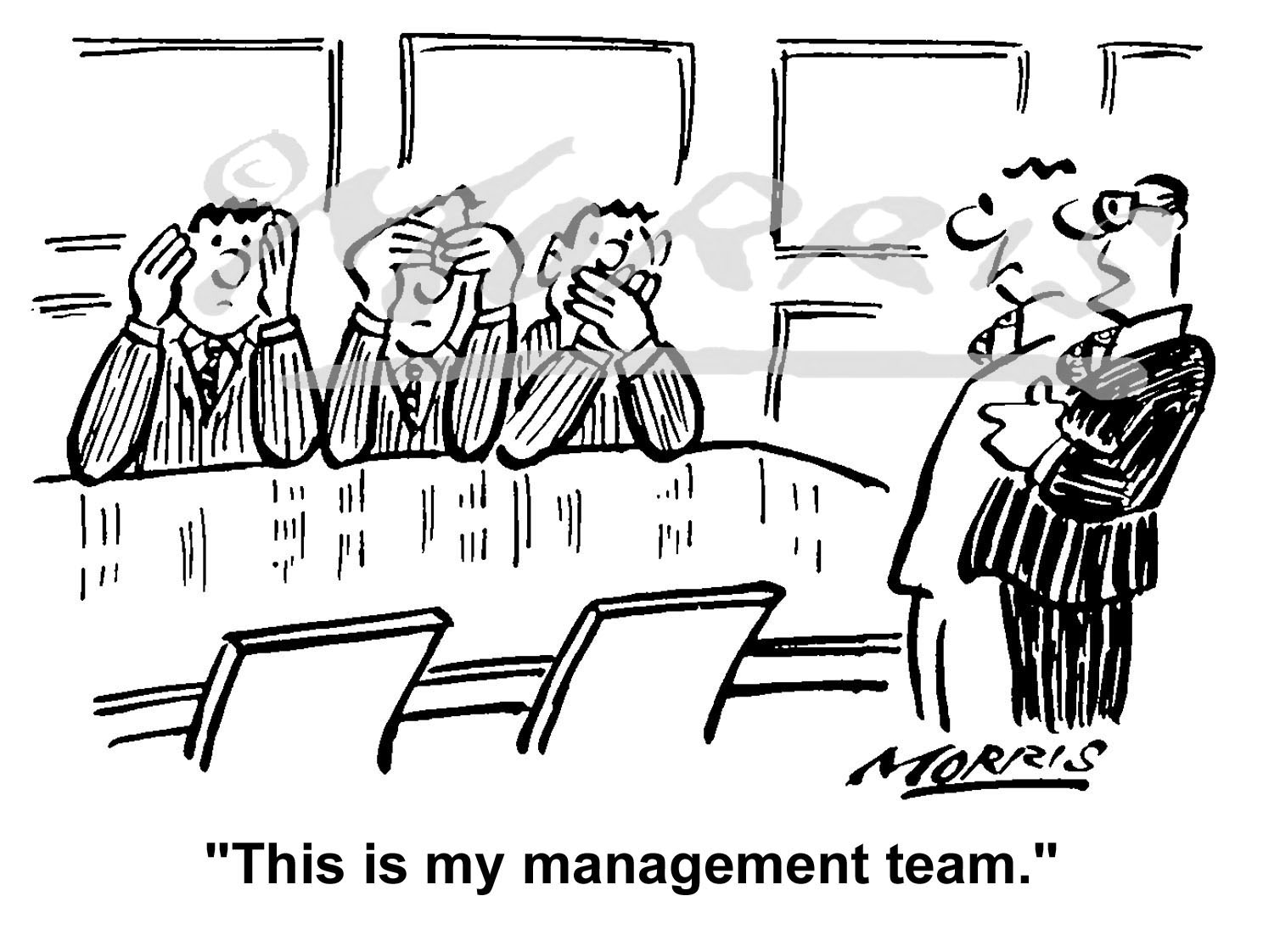Company board members business cartoon – Ref: 1597bw
