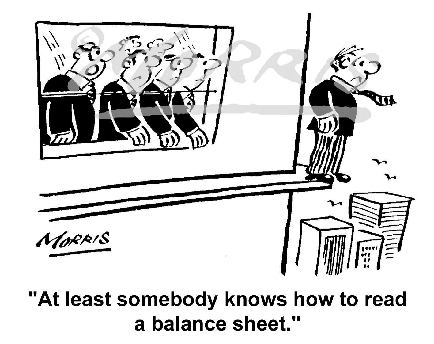 Company balance sheet cartoon Ref: 1632bw