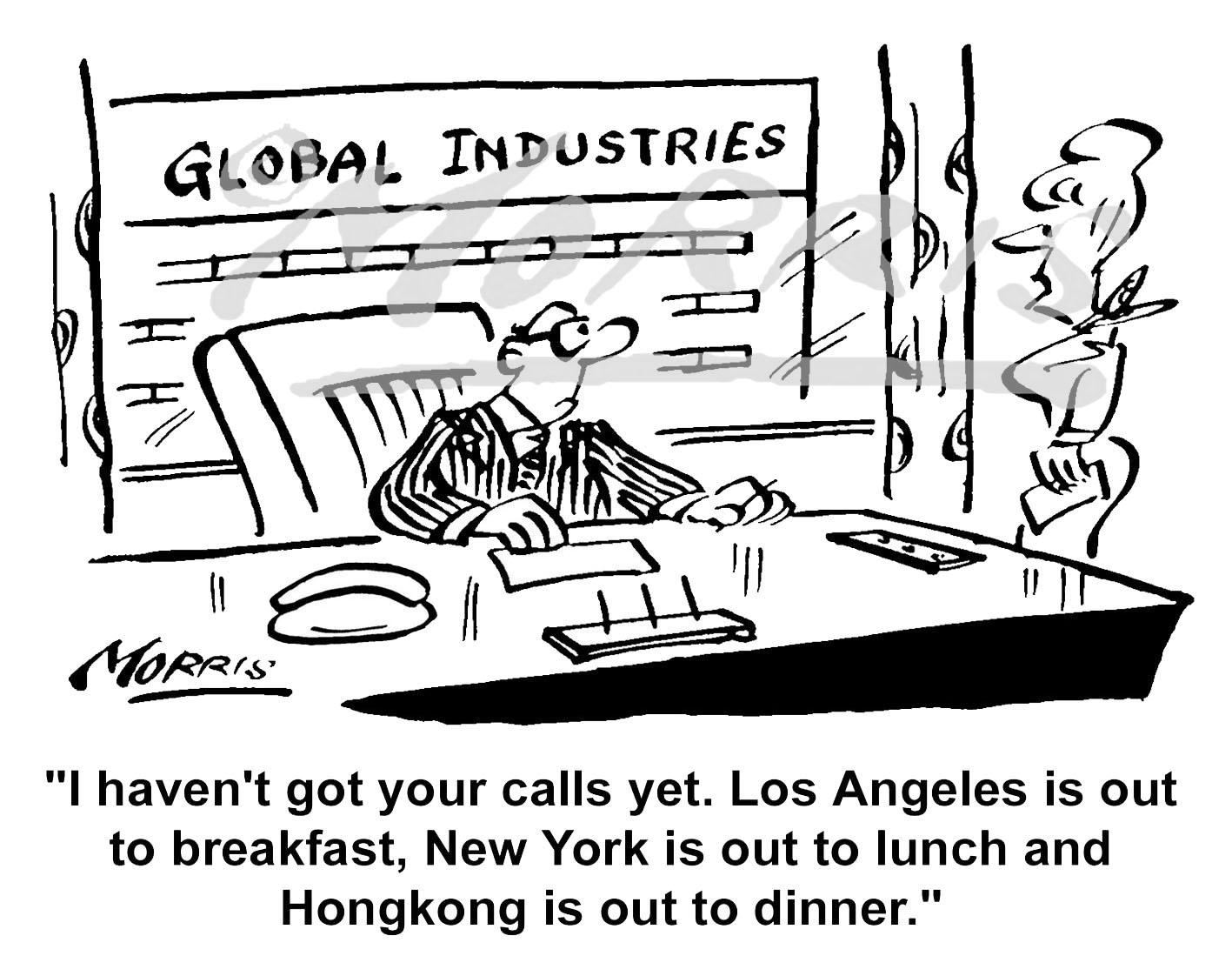 President / Chairman comic business cartoon – Ref:1657bw