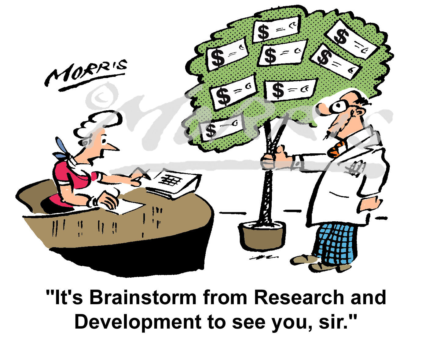 Money Tree Research and Development comic cartoon – Ref: 2209colus