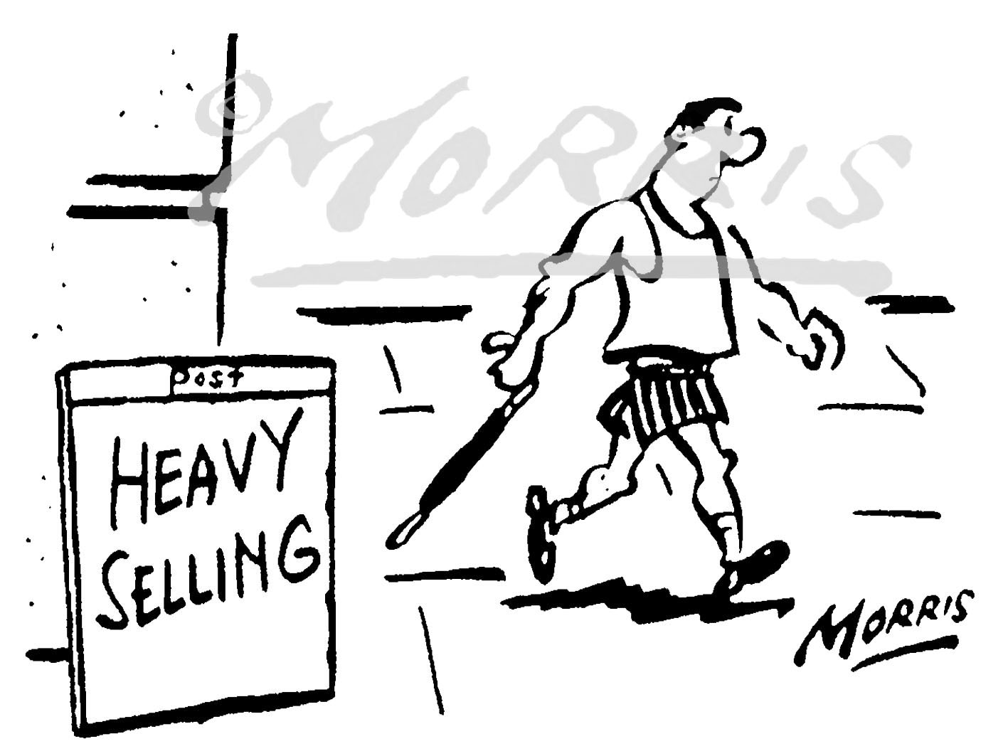 Stock Market heavy selling cartoon – Ref: 4832bw