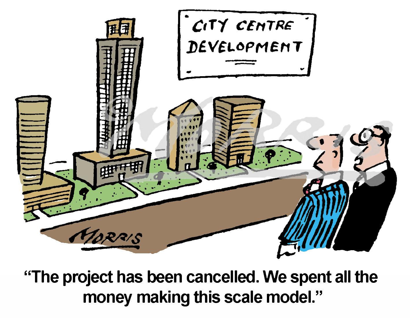 City Centre development cartoon – Ref: 5449col