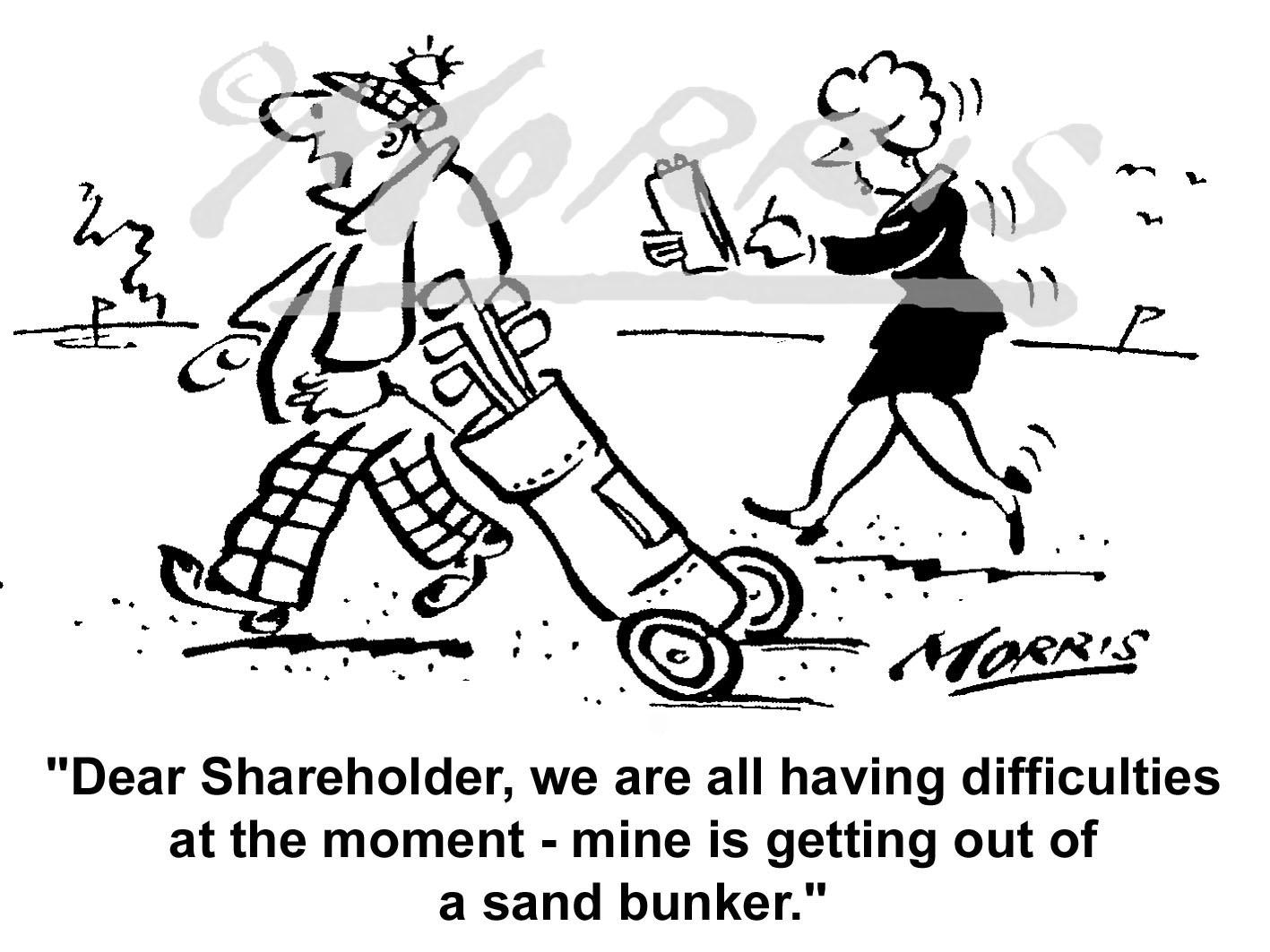 Golf cartoon, Golfing cartoon, Golf course cartoon and Business golf cartoon – Ref: 6480bw