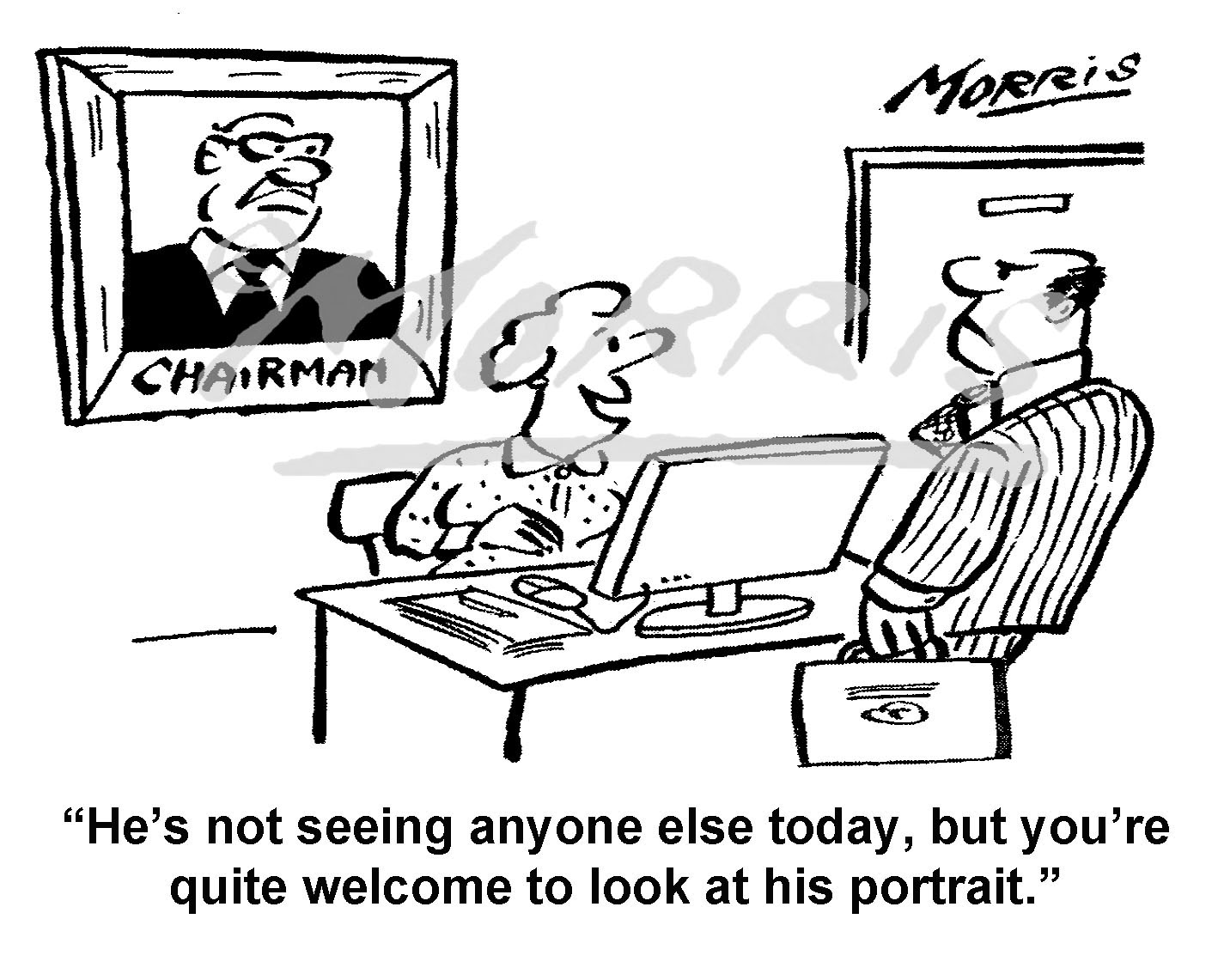 Chairman portrait cartoon – Ref: 7388bw