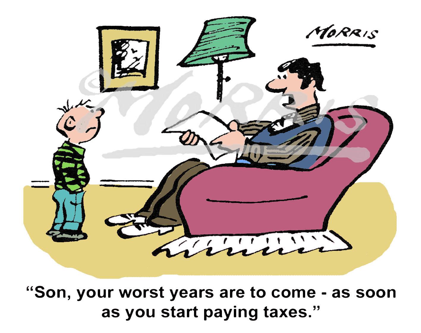 Personal finance tax cartoon – Ref: 7492col
