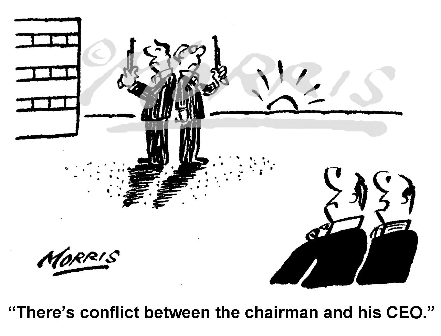 Chairman and CEO in conflict – Ref: 8352bw